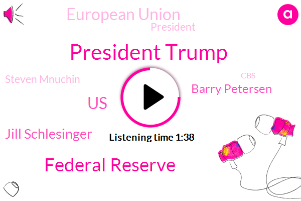 President Trump,Federal Reserve,United States,Jill Schlesinger,Barry Petersen,European Union,Steven Mnuchin,CBS,Rome,Indonesia,Seventy Eight Percent