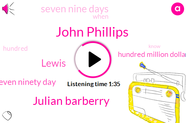 John Phillips,Julian Barberry,ABC,Lewis,Ten Eighty Seven Ninety Day,Hundred Million Dollars,Seven Nine Days