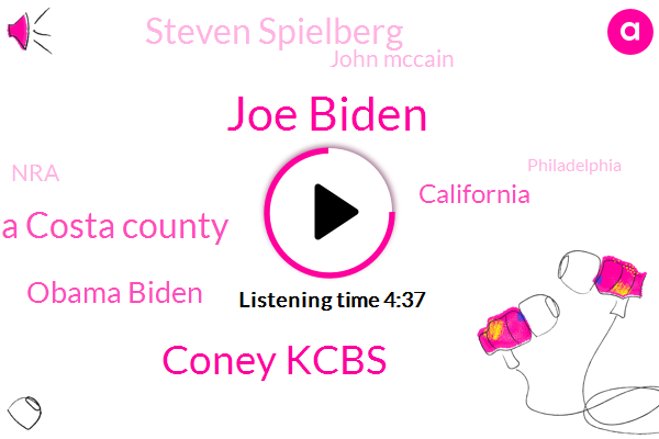 Joe Biden,Coney Kcbs,Contra Costa County,Obama Biden,California,Kcbs,Steven Spielberg,John Mccain,NRA,Philadelphia,Meghan Mccain,Contra Costa,Pittsburgh,CBS,Mccain,White House,Hollywood,Vice President,Senate,Tim Gray