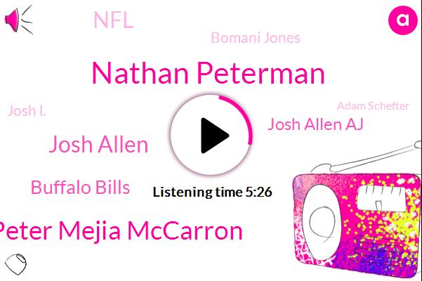 Nathan Peterman,Peter Mejia Mccarron,Josh Allen,Buffalo Bills,Josh Allen Aj,NFL,Bomani Jones,Josh L.,Adam Schefter,Jon Gruden,Sean Mcdermott,Twenty Years,Three Years