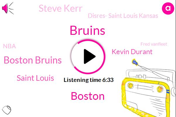 Bruins,Boston Bruins,Boston,Saint Louis,Kevin Durant,Steve Kerr,Espn,Disres- Saint Louis Kansas,NBA,Fred Vanfleet,Steph Curry,Milwaukee,Warriors,Mike Boorda,Russ,Austin,Ross