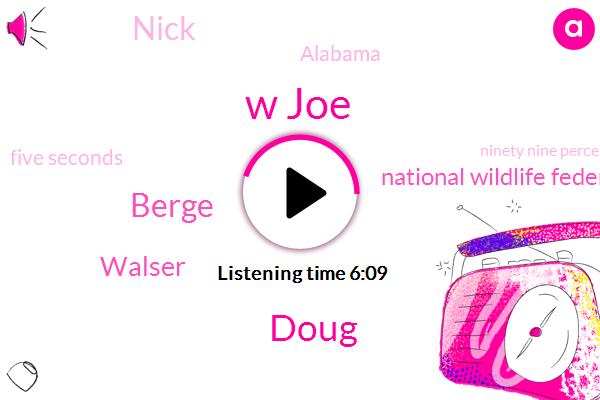 W Joe,Doug,Berge,Walser,National Wildlife Federation,Nick,Alabama,Five Seconds,Ninety Nine Percent