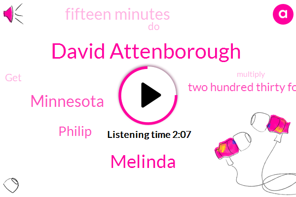 David Attenborough,Melinda,Minnesota,Philip,Two Hundred Thirty Four Degrees Fahrenheit,Fifteen Minutes