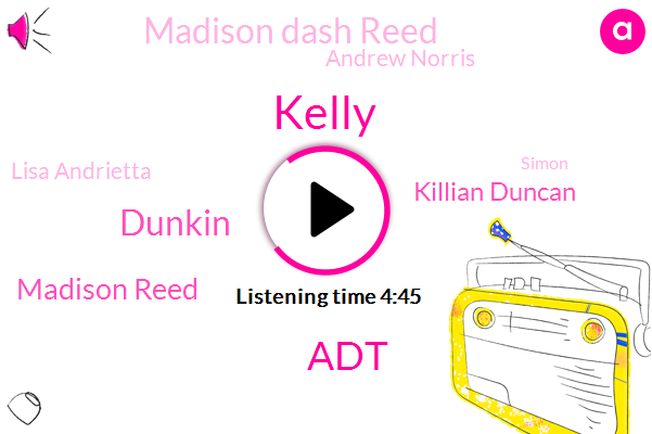 Kelly,ADT,Dunkin,Madison Reed,Killian Duncan,Madison Dash Reed,Andrew Norris,Lisa Andrietta,Simon,Andrew Norsar Morris,Esa Wes,Teagan,UK,Julie Melville,Kelley,Killy