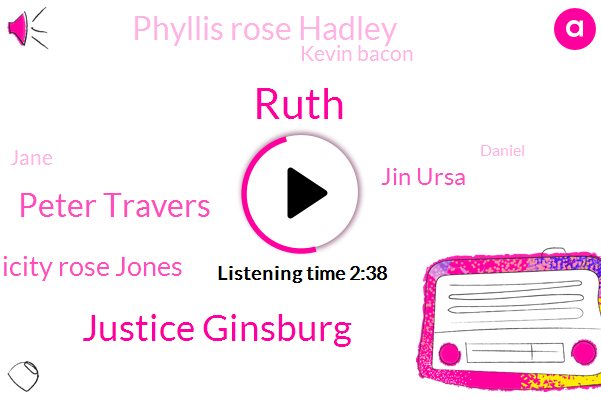 Ruth,Justice Ginsburg,Peter Travers,Felicity Rose Jones,Jin Ursa,Phyllis Rose Hadley,Kevin Bacon,Jane,Daniel