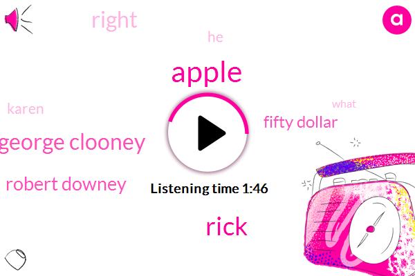 Apple,George Clooney,Rick,Robert Downey,Fifty Dollar