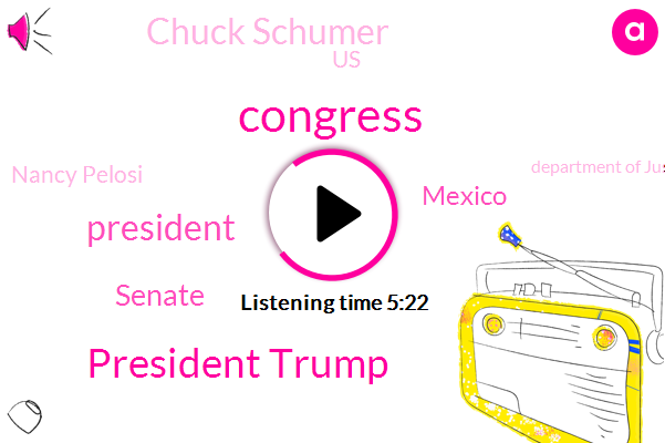 President Trump,Congress,Mexico,Senate,Chuck Schumer,United States,Nancy Pelosi,Department Of Justice,Jeff Widener Wtmj,Morning.,Five Billion Billion Dollars,Two Weeks,Two Years