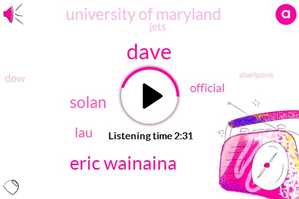 Dave,Eric Wainaina,FOX,Solan,LAU,Official,University Of Maryland,DOW,Sharipova,Jets,LOU,Eric Bolling,Maryland,Charleston,Todd Bowles,Football,Josh Mccown,Fifteen Months