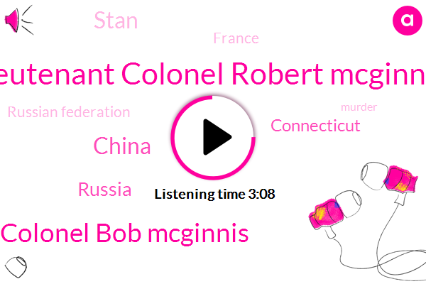 Lieutenant Colonel Robert Mcginnis,Colonel Bob Mcginnis,China,Russia,Connecticut,Stan,France,Russian Federation,Murder,George Noory,Richard Sarah,America,Honduras,Senate,Ten Minutes,Two Hours