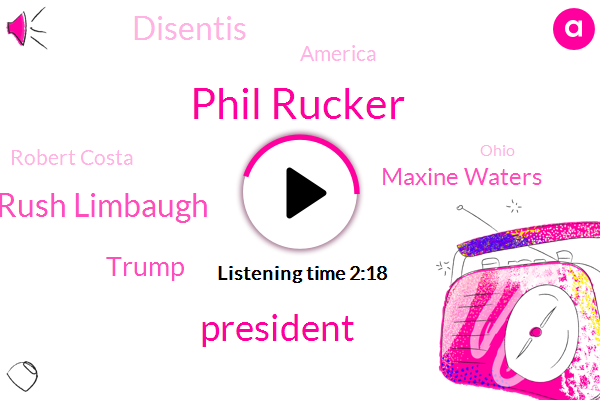Phil Rucker,President Trump,Rush Limbaugh,Donald Trump,Maxine Waters,Disentis,America,Robert Costa,Ohio,Hillary,John Casick,Florida,Brian,Two Years