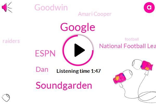 Google,Soundgarden,Espn,DAN,National Football League,Goodwin,Amari Cooper,Raiders,Football,Dak Prescott,Rex Ryan