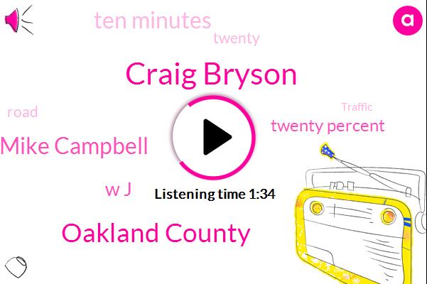 Craig Bryson,Oakland County,Mike Campbell,W J,Twenty Percent,Ten Minutes