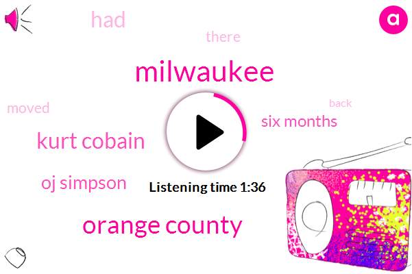 Milwaukee,Orange County,Kurt Cobain,Oj Simpson,Six Months