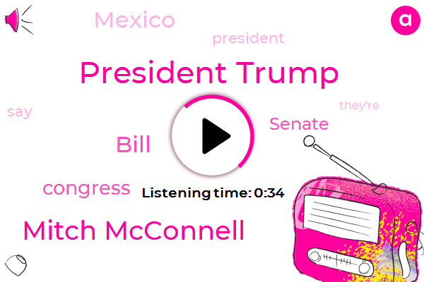 President Trump,Mitch Mcconnell,Bill,Congress,Senate,Mexico,Five Billion Dollar