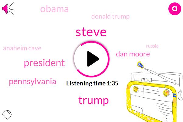 Steve,Pennsylvania,Donald Trump,President Trump,Dan Moore,Barack Obama,Anaheim Cave,Russia,NFL,Mill,Twenty Five Percent,Three Million Tons