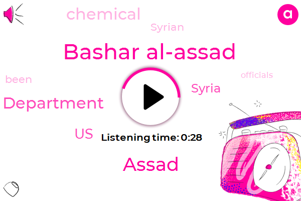 Listen: U.S. Says Assad May Be Using Chemical Weapons in Syria Again