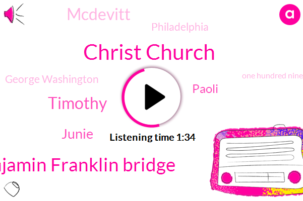 Christ Church,KYW,Benjamin Franklin Bridge,Timothy,Junie,Paoli,Mcdevitt,Philadelphia,George Washington,One Hundred Ninety Six Foot,Fifty Four Degrees,Sixty One Degrees,Forty One Degrees,Twenty Two Inches,Twenty Four Hour,Fifty Years,Ten Minutes