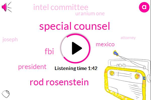 Special Counsel,Rod Rosenstein,FBI,President Trump,Mexico,Intel Committee,Uranium One,Joseph,Attorney,DOJ,Skopje,Bernie,Australia,North Korean