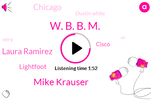 W. B. B. M.,Mike Krauser,Laura Ramirez,Lightfoot,Cisco,Chicago,Dustin White