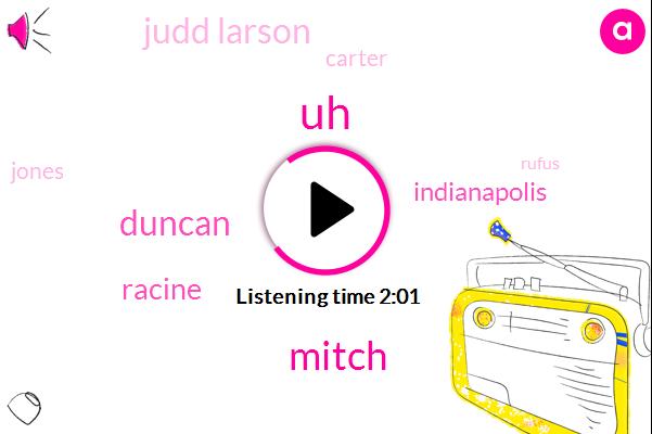 Mitch,Duncan,Racine,Indianapolis,Judd Larson,Carter,Jones,Rufus,Roger Mccloskey