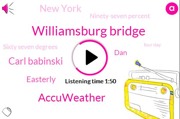 Williamsburg Bridge,Accuweather,Carl Babinski,Easterly,DAN,New York,Ninety-Seven Percent,Sixty Seven Degrees,Four Day