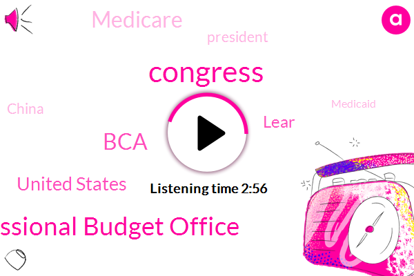 Congress,Congressional Budget Office,BCA,United States,Lear,Medicare,President Trump,China,Medicaid,Twenty Five Percent,Fifty Percent,Five Percent