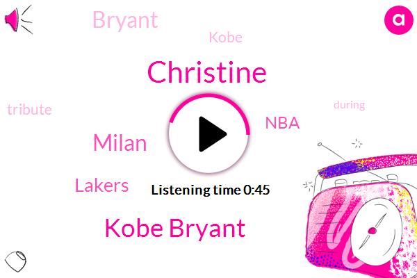 Christine,Kobe Bryant,Milan,Lakers,NBA,FOX