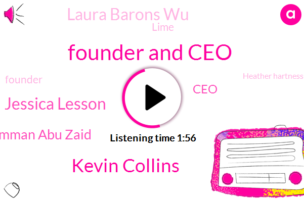 Founder And Ceo,Kevin Collins,Jessica Lesson,Shipu Amman Abu Zaid,CEO,Laura Barons Wu,Lime,Founder,Heather Hartness,QNA,Accenture,Human Ventures,Shipu
