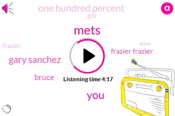 Mets,Gary Sanchez,Frazier Frazier,Bruce,One Hundred Percent