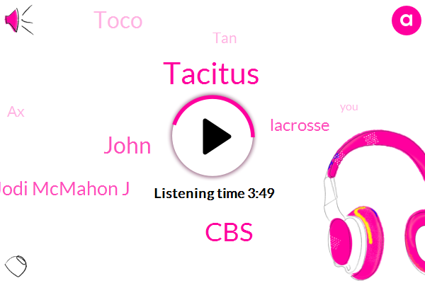 Tacitus,John,CBS,Jodi Mcmahon J,Lacrosse,Toco,TAN,AX,Wood Memorial,Billy,Lincoln,NBA,Cassidy,Basketball,New York,Twenty Four Hour,Thirty Minutes,Thirty Seconds