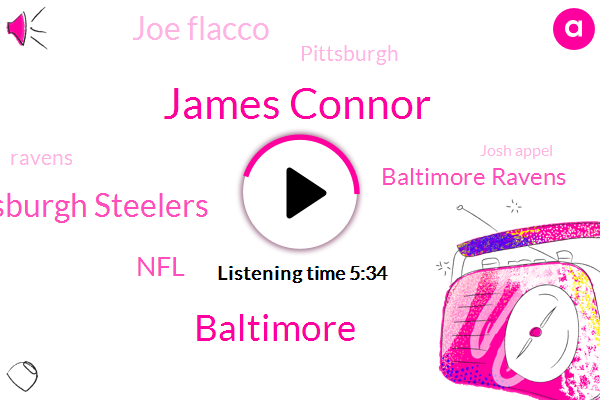 James Connor,Baltimore,Pittsburgh Steelers,NFL,Baltimore Ravens,Joe Flacco,Pittsburgh,Ravens,Josh Appel,Darius Smith,Eric Weddell,James,James Cotter,Walmart,James Washington,Chicago,Terrell Suggs,Rothlisberger,Steeler,Chris Johnson