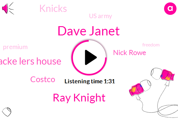 Dave Janet,Ray Knight,Boesch Mbacke Lers House,Costco,Nick Rowe,Knicks,Us Army