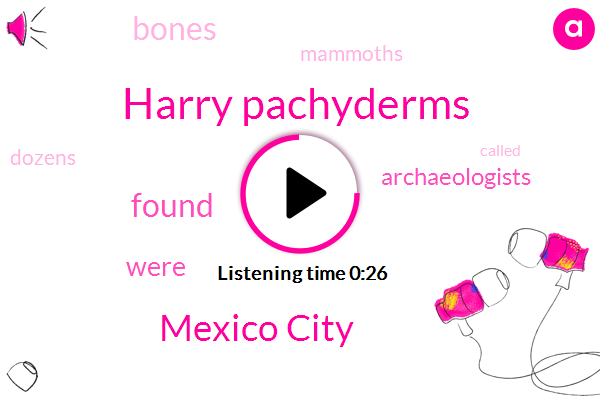 Listen: Experts find bones of dozens of mammoths in Mexico City