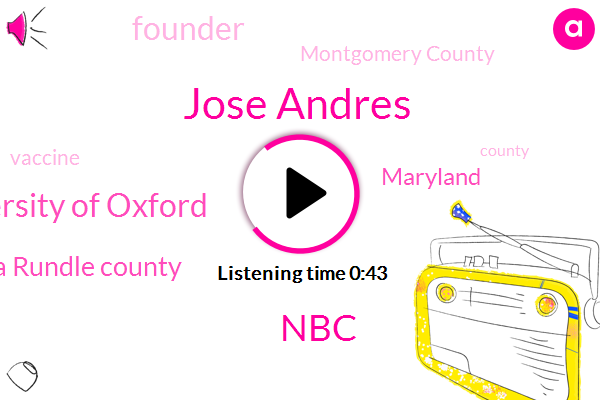 Anna Rundle County,Maryland,Founder,NBC,University Of Oxford,Montgomery County,Jose Andres