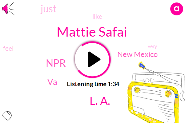 Mattie Safai,VA,NPR,New Mexico,L. A.