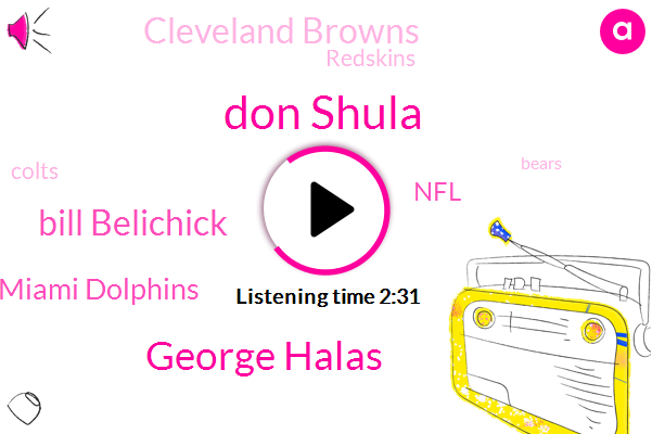 Don Shula,Miami Dolphins,Grand River,NFL,Cleveland Browns,Baltimore,Redskins,Colts,George Halas,Bears,Football,New England Patriots,Bill Belichick