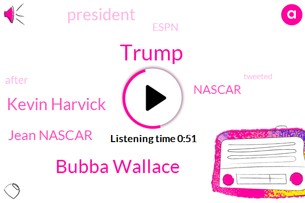 Nascar,Bubba Wallace,Kevin Harvick,Jean Nascar,President Trump,Donald Trump,Espn