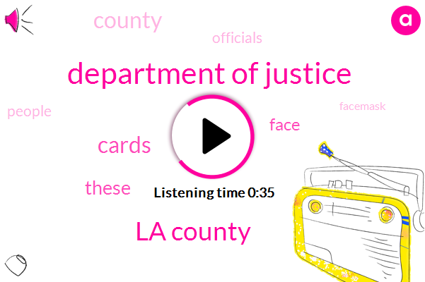 La County,Department Of Justice
