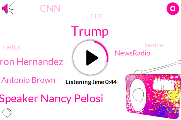 House Speaker Nancy Pelosi,Donald Trump,Aaron Hernandez,Antonio Brown,CNN,CDC,Fedex,Newsradio,Redskins,Espn,Patriots,California,Washington,NFL