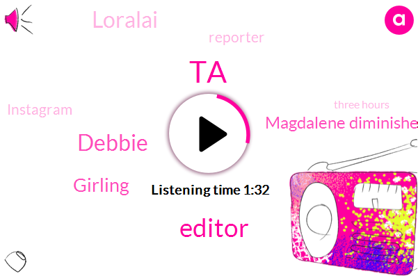 TA,Editor,Debbie,Girling,Magdalene Diminished Magazine,Loralai,Reporter,Instagram,Three Hours,One Day
