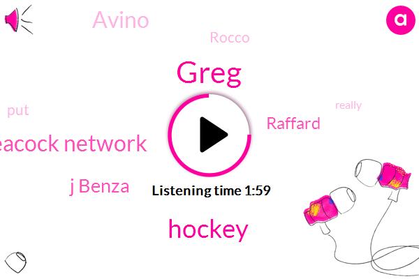 Greg,Hockey,Peacock Network,J Benza,Raffard,Avino,Rocco
