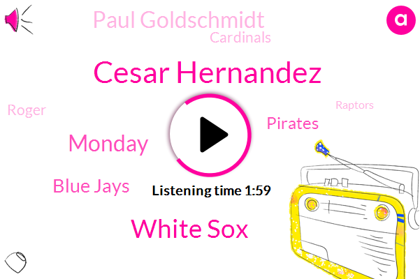 Cesar Hernandez,White Sox,Monday,Blue Jays,Pirates,Paul Goldschmidt,Cardinals,Roger,Raptors,14 Games,81,Dodgers,Rangers,Flyers,Angels,Braves,Rockies,31,Capitals,11Th