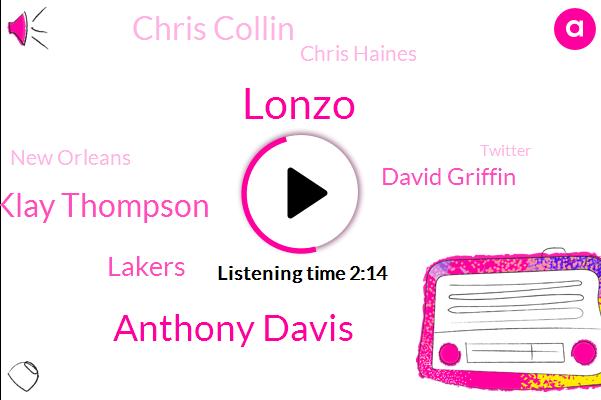Anthony Davis,Lonzo,Klay Thompson,Lakers,David Griffin,Chris Collin,Chris Haines,New Orleans,Twitter,Raines,NBA,Vinson,Chris,Yahoo,T Mobile,Katie