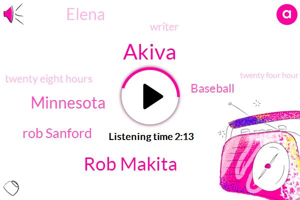 Akiva,Rob Makita,Minnesota,Rob Sanford,ROB,Baseball,Elena,Writer,Twenty Eight Hours,Twenty Four Hour