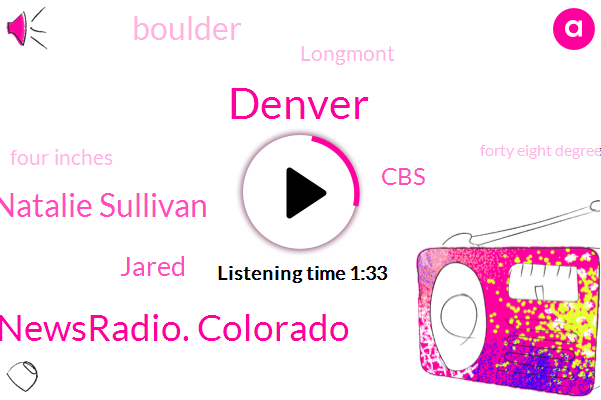 Denver,Newsradio. Colorado,Natalie Sullivan,Jared,CBS,Boulder,Longmont,Four Inches,Forty Eight Degrees,Six Inches,Ten Inches
