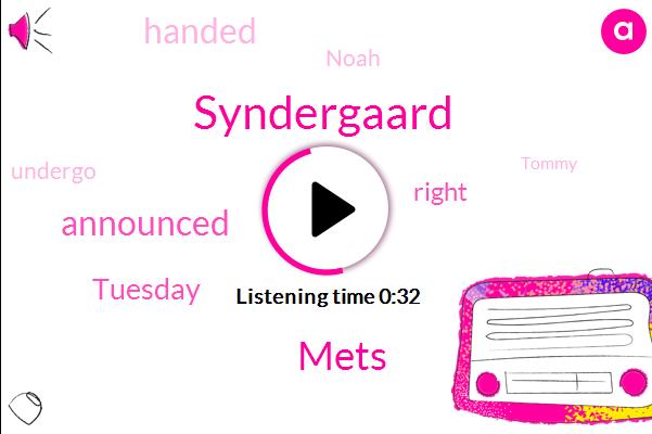 Mets,Noah Syndergaard,Jacob,New York,Tommy John,Syndergaard,27 Year