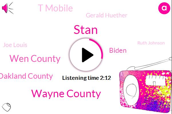 Stan,Wayne County,Wen County,Oakland County,Biden,T Mobile,Gerald Huether,Joe Louis,Ruth Johnson,Iraq,Business T Mobile,Dr Black,Gordon,Michael,Focus Group,ALI,Michigan.