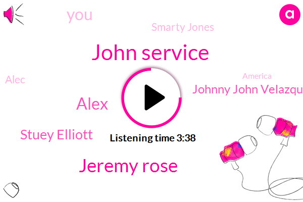John Service,Jeremy Rose,Alex,Stuey Elliott,Johnny John Velazquez,Smarty Jones,Alec,America,Gordon Business,Jin Richie,Belmont,Dewey