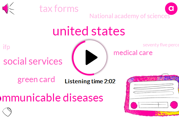 United States,Communicable Diseases,Social Services,Green Card,Medical Care,Tax Forms,National Academy Of Sciences,IFP,Seventy Five Percent,Five Years