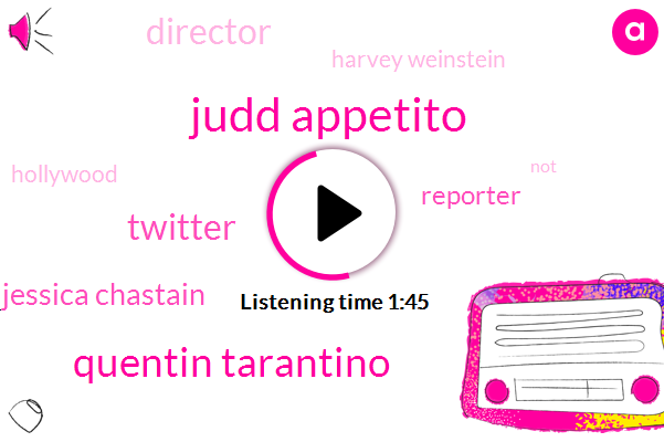 Judd Appetito,Quentin Tarantino,Twitter,Jessica Chastain,Reporter,Director,Harvey Weinstein,Hollywood